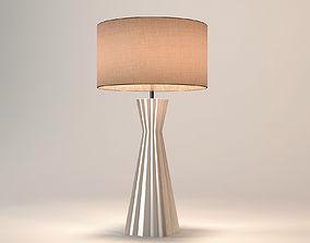 Chelsom Ceramic Art Ribbed Table Lamp Pebble CA33 3D