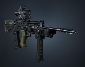 SA80 a2 Rifle 3D asset low-poly