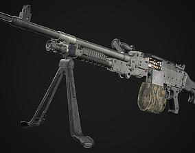 FN MAG M240 Machine Gun Game Ready 3D model