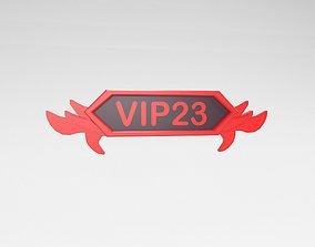 Game VIP Symbol v4 009 3D model