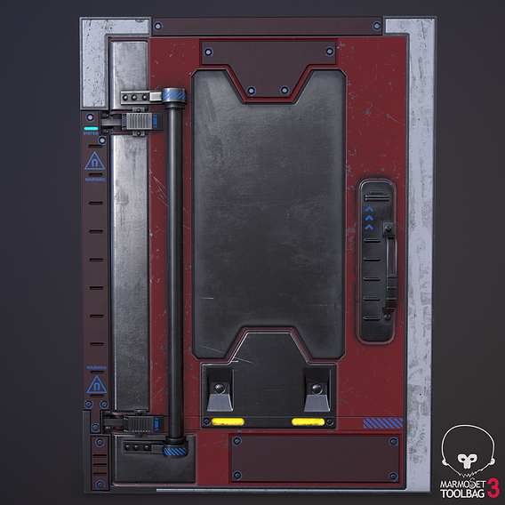 SCI-FI Heavy metal door