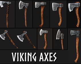 3D model Viking Axes Collection