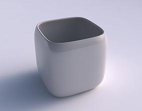 Vase quadratic stumpy smooth 3D printable model