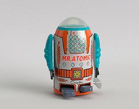 3D Vintage Tin Toy Robot