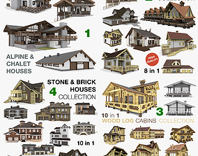 3D model Residential Houses Collection 32 Houses
