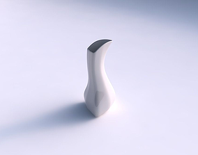 3D printable model Vase puffy bent triangle smooth