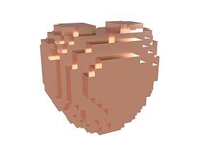 Voxel Heart v1 013 3D asset