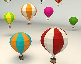 3D asset Low Poly Hot Air Balloon
