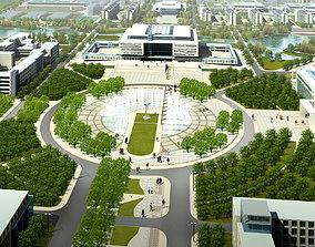 3D model Architectural Landscape