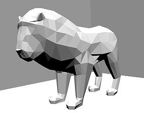 3D print model poly Low Poly Lion