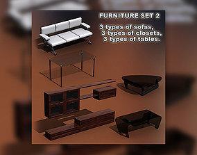 Furniture Set 02 3D asset
