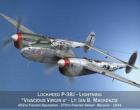 Lockheed P-38 Lightning - Vivacious Virgin II 3D model
