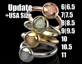 3D printable model Adorable Rings silver