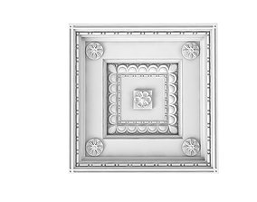 Coffered Ceiling Element 3D model