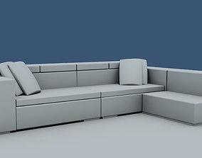 3D sofa living room chair-office