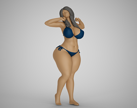 3D print model Woman Waking Up and Yawning
