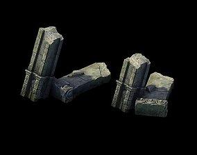 Game Model - Broken Stones 02 3D