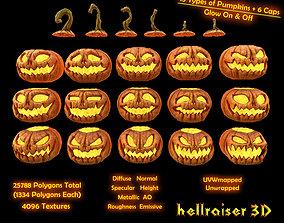 3D asset Pumpkins Set - PBR - Textured