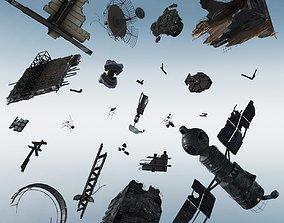 3D model Space debris