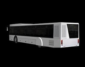 City bus 3D model low-poly