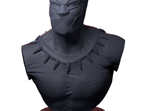 3D printable model Black Panther Bust chadwick