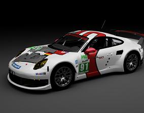 Porsche 911 Carrera RSR 3D model realtime
