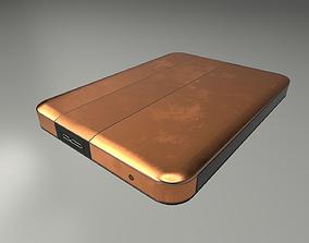 3D model External Hard Drive Low Poly Copper Version - 3