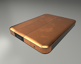 3D model External Hard Drive Low Poly Copper Version - 3