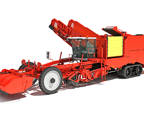 Potato Combine Harvester 3D model