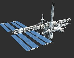 3D model Space station international