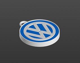 Logo Volkswagen Keychain 3D print model