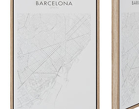 Uptown painting 50 x 70 cm Barcelona 3D asset