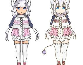 kanna kamui from Kobayashi-san Chi no Maid Dragon 3D