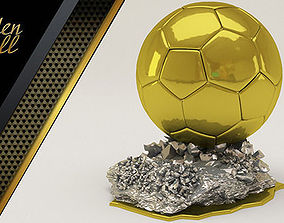 sport 3D Golden Ball