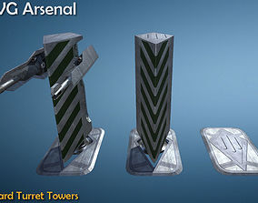 3D asset Guard turret tower - HQ