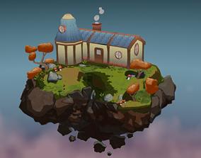 Stylised Sky Island 3D model
