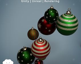 3D asset PBR Christmas Baubles Pack