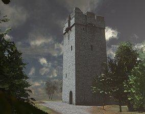 Kildamhnait Tower House 3D asset