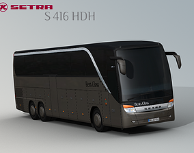 SETRA S 416 HDH Bus-Coach 3D model VR / AR ready