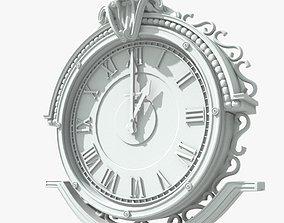 Street Clock metal 3D model