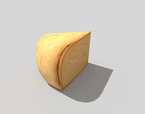 3D asset low poly cheese