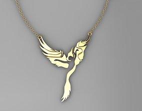 3D printable model phoenix dancer pendant