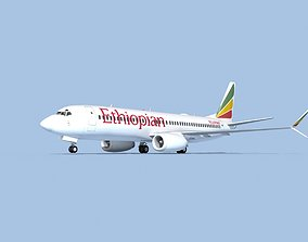 Boeing 737-800 Max Ethiopian Airlines 3D