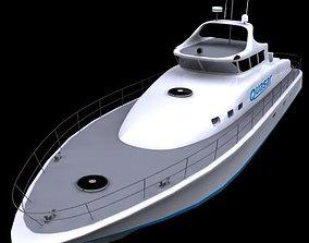 Motor Yacht - 01 - 3D model