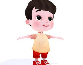 3D asset Cartoon Boy