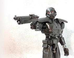 3D print model Star Wars Dark Trooper articulated action
