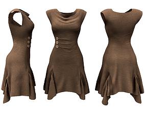 Lagenlook Tunic Dress 3D model