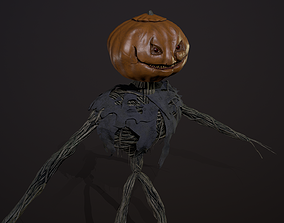 3D model Creepy pumpkin monster