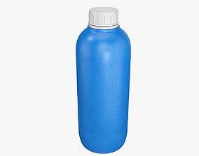 3D model Plastic container blue 05