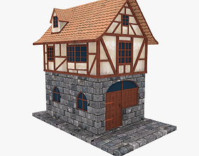 Medieval Building Townhouse 3D model